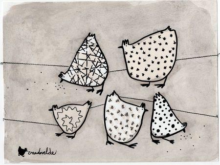 Quand trois poules... Lucie Vandevelde