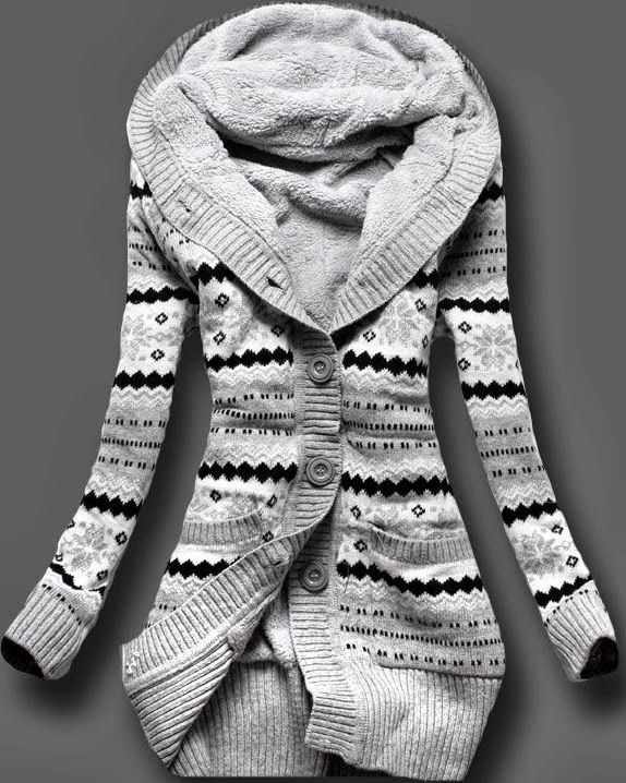 Amazing Full Sleeves Norwegian Style Sweater | See more about hooded sweater, winter sweaters and grey sweater.
