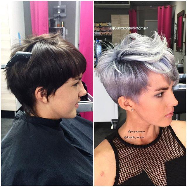 12 Kurzhaarfrisuren in Silberfarbe. Ist eine Versuchung Wert! - Neue Frisur