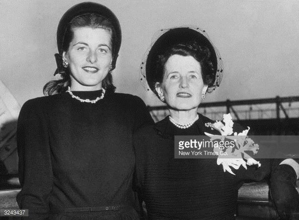 rose kennedy mother | Patricia Kennedy and her mother Rose Kennedy wife of former American ...