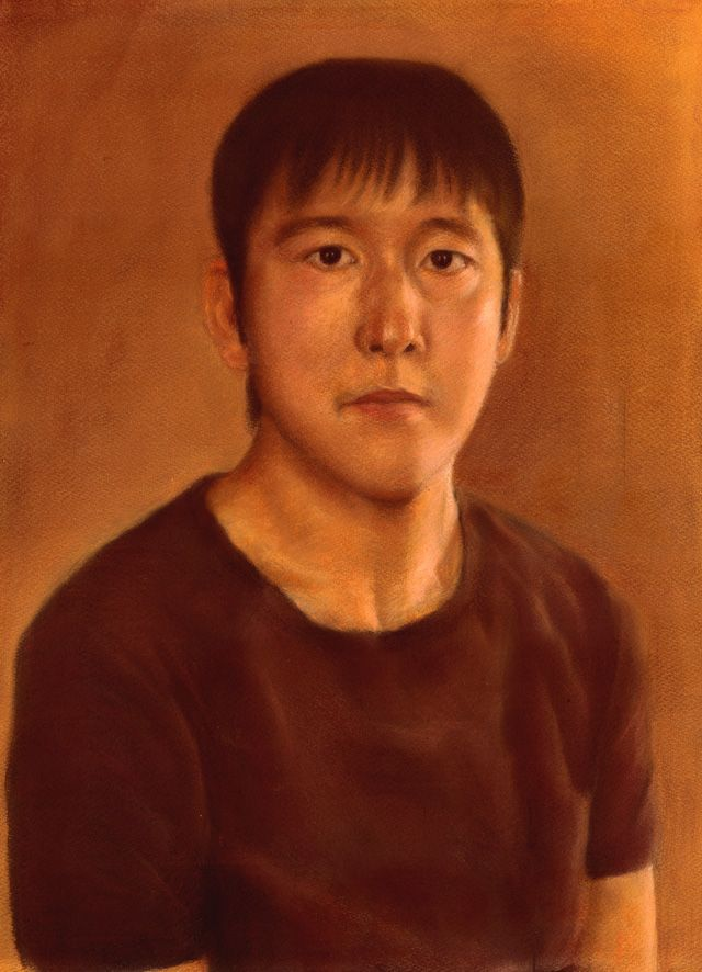 弟の肖像です。誕生日のプレゼントに描いたものです。これからも、よろ~ (^ ^