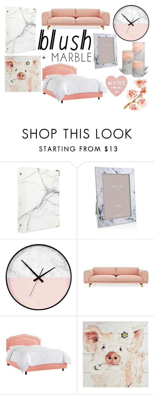 """""""blush & marble"""" by doggyrules on Polyvore featuring interior, interiors, interior design, home, home decor, interior decorating, russell+hazel, Addison Ross, Muuto and Pier 1 Imports"""