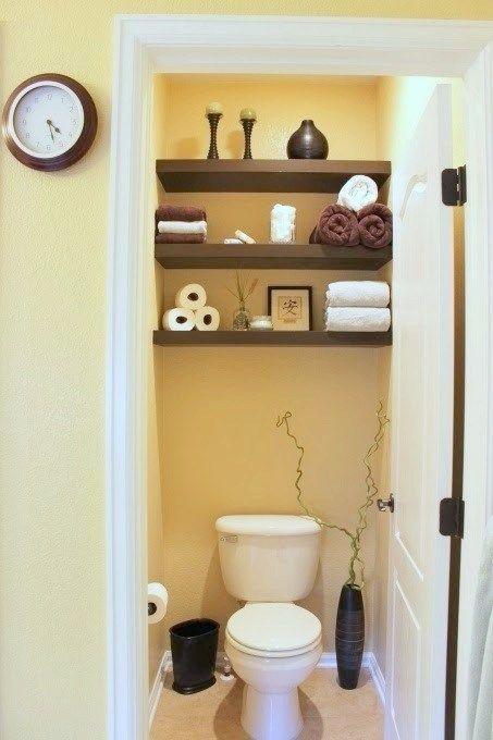 Die besten 25+ Kleine toiletten organisieren Ideen auf Pinterest - klug badezimmer design stauraum organisieren