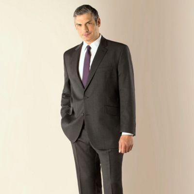 Centaur Big & Tall Big & tall grey herringbone regular fit 2 button jacket- at Debenhams.com