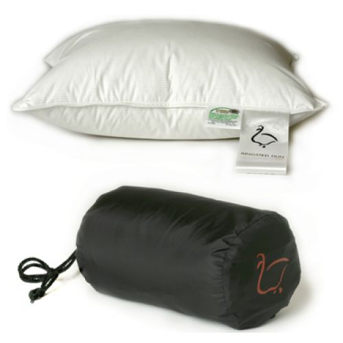 Anti Allergy Bedding - Travel Size Danish Duck Down and Feather Pillow [40 x 35 cm]