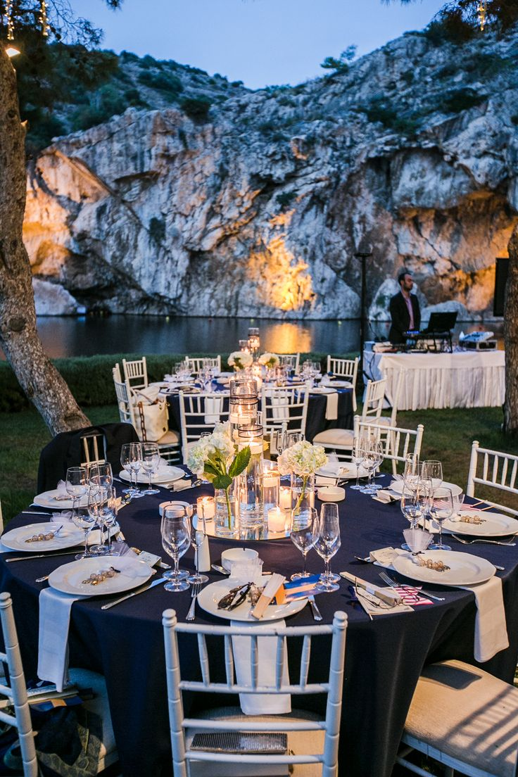 Alex Warschauer Photography // The Blog: Destination Greece Wedding, vouliagmeni lake, reception