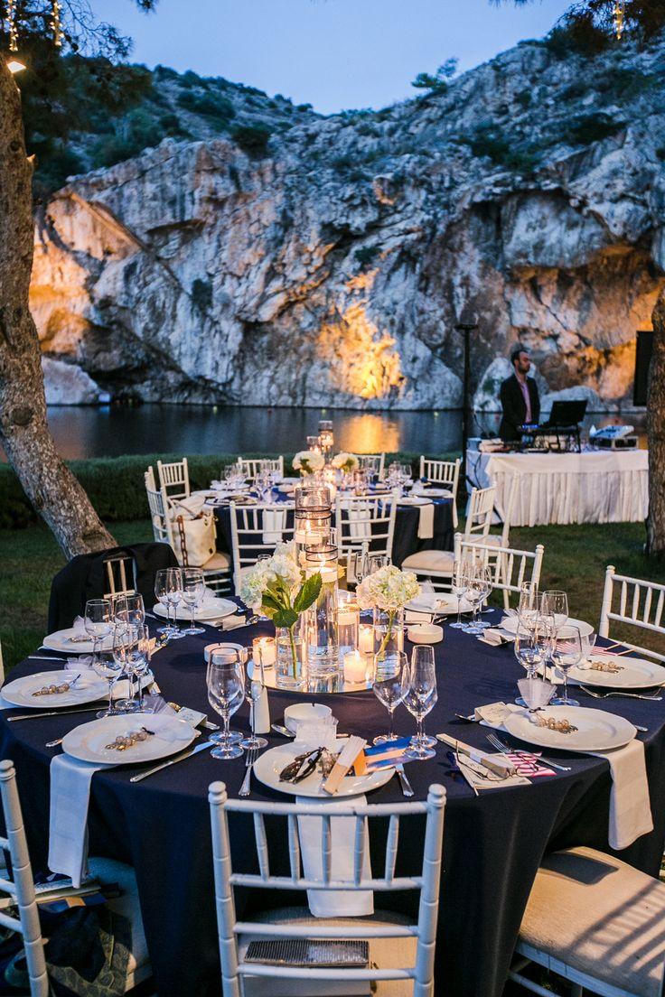 Alex Warschauer Photography // The Blog: Destination Greece Wedding, vouliagmeni lake, reception