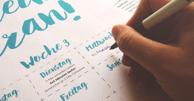 Der Schlüssel zum Lauferfolg heißt Trainingsplan. Erstelle Dir ganz einfach Deinen ersten eigenen Lauftrainingsplan für Anfänger. So geht's!