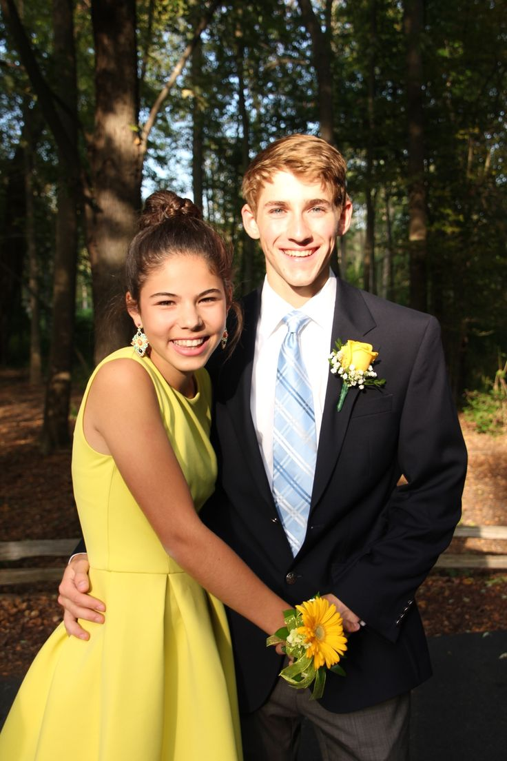 Preppy homecoming couple