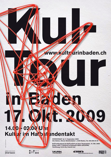 """poster design for """"KulTour"""" Event in Germany – 3D look 