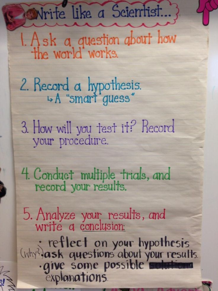 Are you doing the lab reports and science writing unit from 2nd grade?  Check out this chart