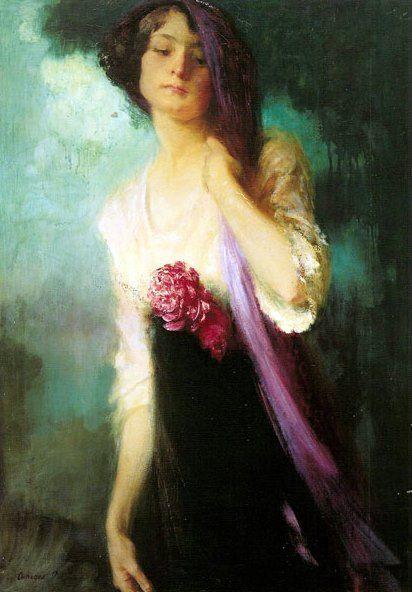 """Amedeo Bocchi """"Fanciulla in viola"""" 1913"""