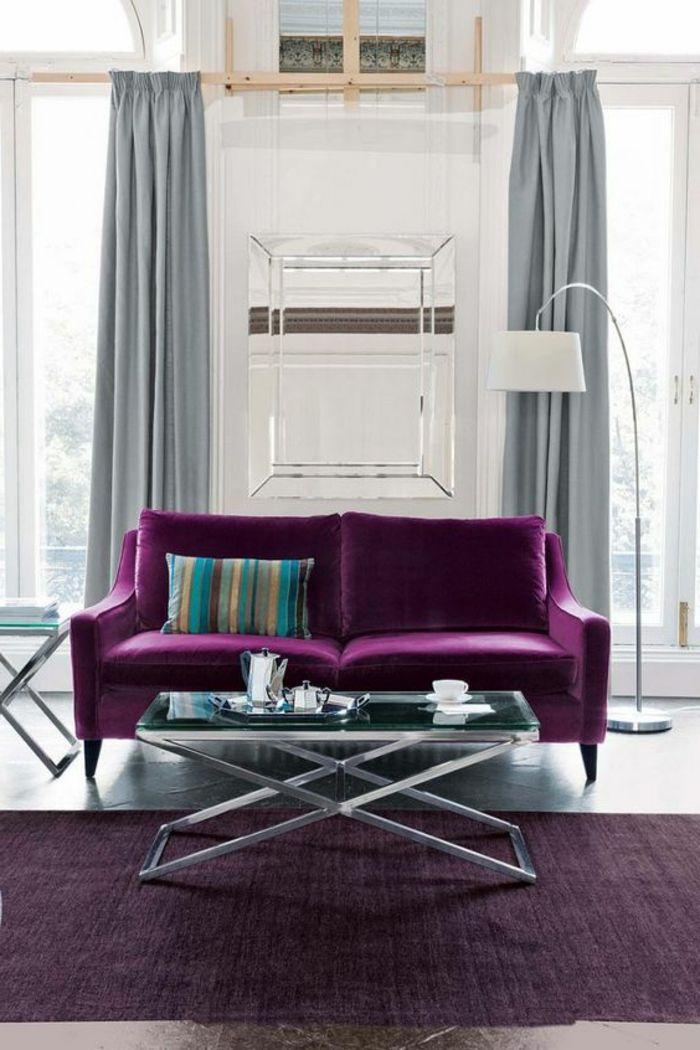 rideaux violet gris fabulous ornements arabesques univers thtral tissus rideaux violet with. Black Bedroom Furniture Sets. Home Design Ideas