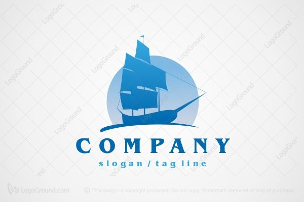 Logo for sale: Old Ship With Sails Logo http://www.logoground.com/logo.php?id=4131