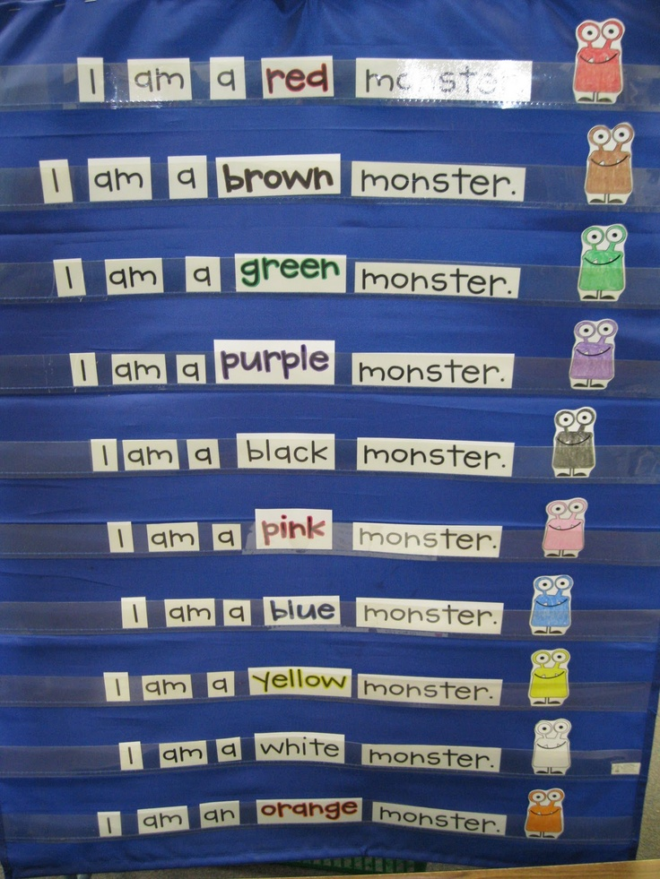 Kindergarten Calendar Pocket Chart : Pre k rocks monster centers school ideas pinterest