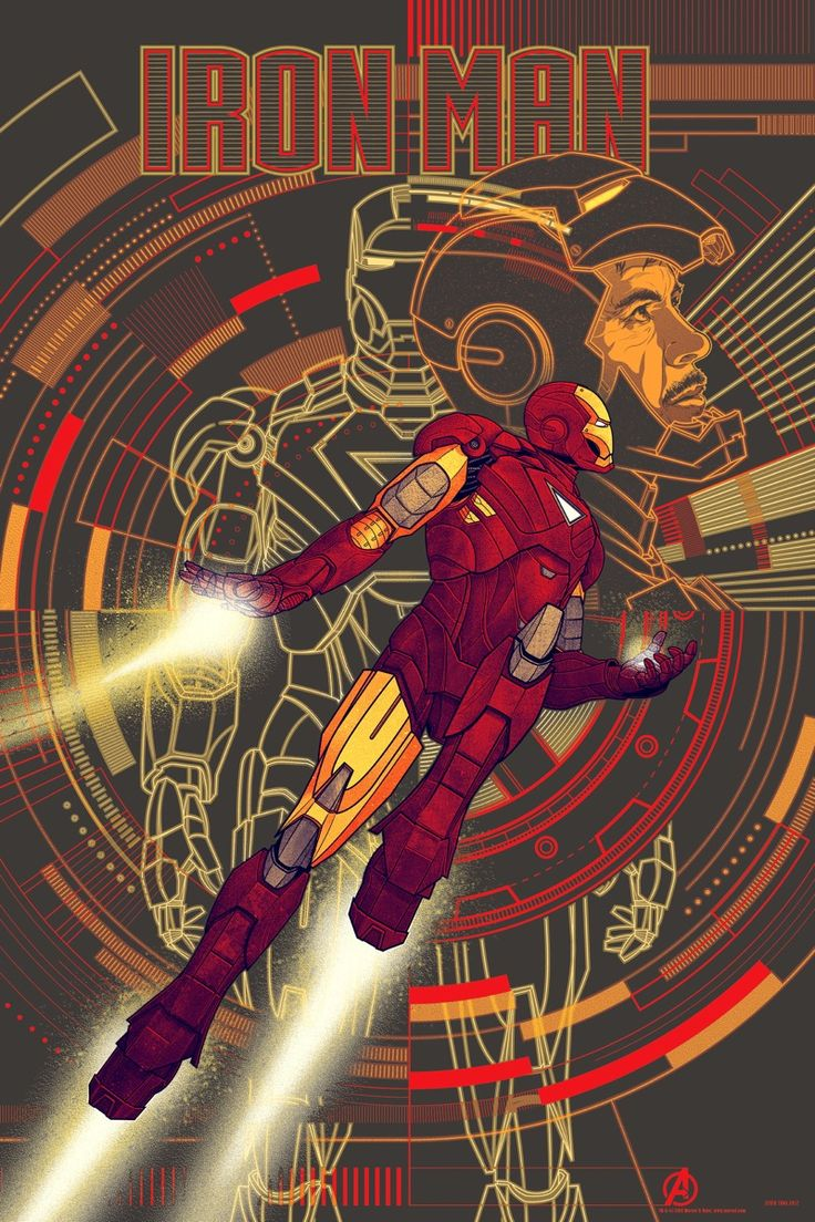 Kevin Tong. Avengers movie poster. Iron Man variant.