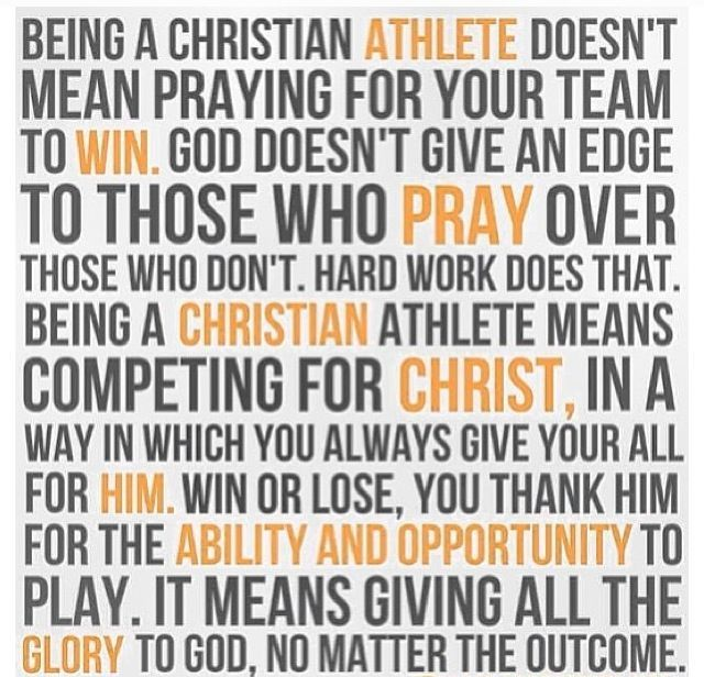 Christian Athlete Quotes