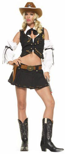 Leg Avenue Womens Good Sheriff Costume Black Small * Be sure to check out this awesome product.