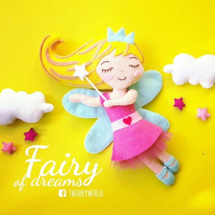 Felt garland -  dream fairy