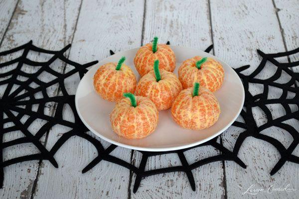 Hocus Pocus: Healthy Halloween Treats - clementine pumpkins