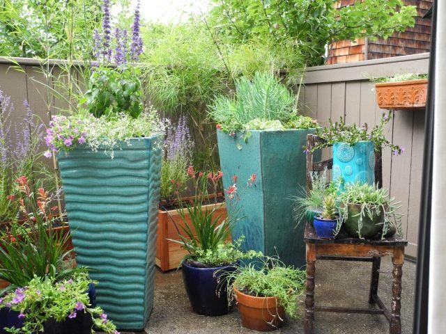 db – Garten auf Terrasse Balkon-Blumenkasten Pflanzkübel-design