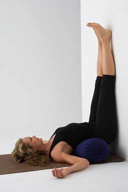 6 Yoga Poses for Insomnia:  Fists of fire lunge, fists forward bend, janu front & center, core scissors, core stretch, and legs up the wall.