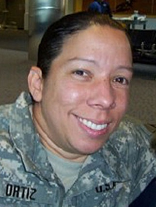 Army Capt. Maria I. Ortiz  Died July 10, 2007 Serving During Operation Iraqi Freedom  40, of Bayamon, Puerto Rico; assigned to Kirk U.S. Army Health Clinic, Aberdeen Proving Ground, Md.; died July 10 in Baghdad of wounds sustained from enemy indirect fire.