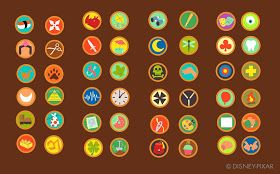 Link to Russell's badges for possible Halloween running costume