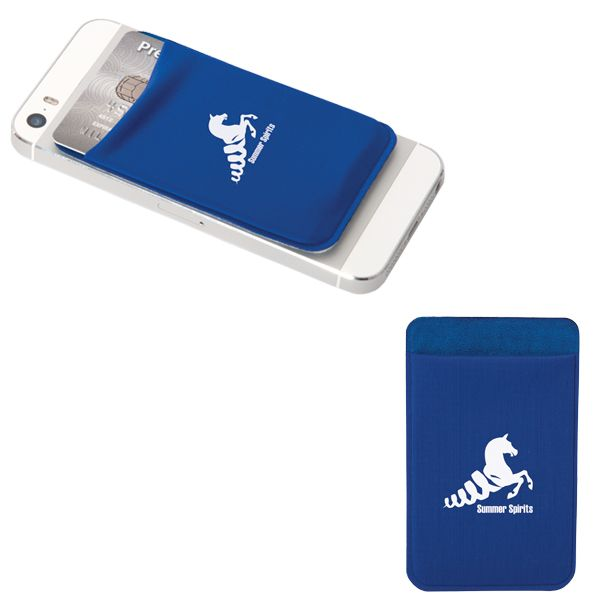 Smart Phone Wallet (From $2.70) - New lycra smart wallets with adhesive tape on the back hold up to eight credit cards, IDs (real & fake), hotel cards or debit cards. The large imprint area is great for promoting your brand. Phone not included (in case that wasn't obvious).