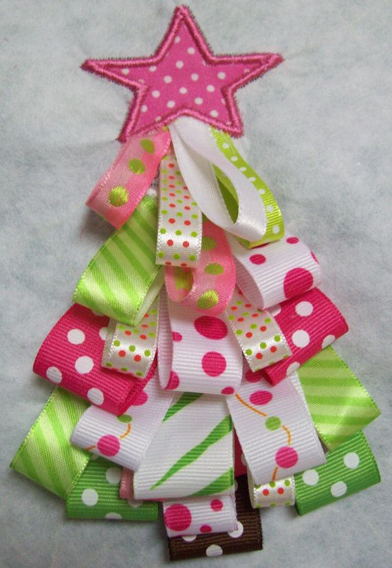 A different twist on applique - use ribbon loops!  Super cute  http://www.etsy.com/listing/101663927/iron-on-applique-ribbon-christmas-tree