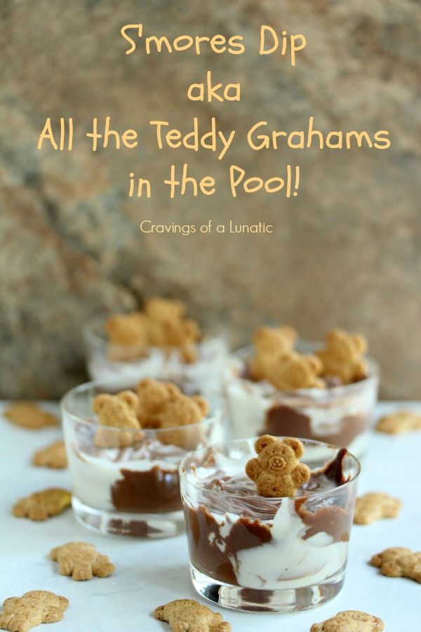 S'mores Dip. This simple dip is perfect for dunking graham crackers, teddy grahams or even fruit. It's wildly addictive and once you start dipping you won't want to stop!
