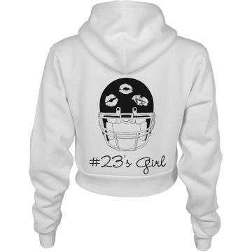 Football Girlfriend of 23 | Change anything about this football design, including the number. Add something to the front too!