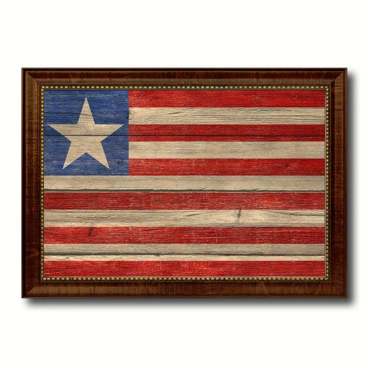 Liberia Country Flag Texture Canvas Print, Custom Frame Home Decor Gift Ideas Wall Decoration