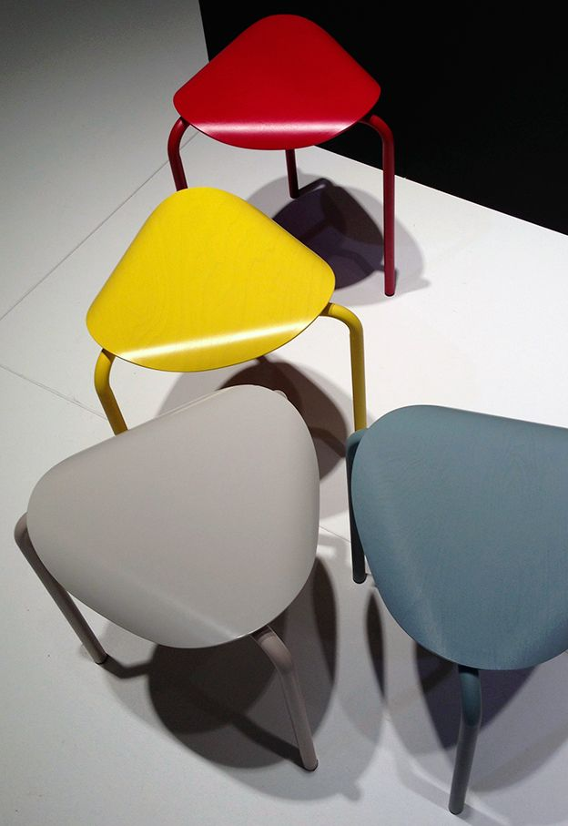 Salone del Mobile 2013: Lukki stools by Ilmari Tapiovaara manufactured by Artek