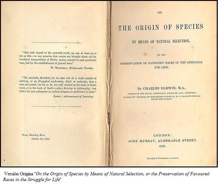 Teoria de Darwin, el Origen de las Especies