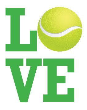 Tennis LOVE - Digital Art Print, 14x11. $12.00, via Etsy.