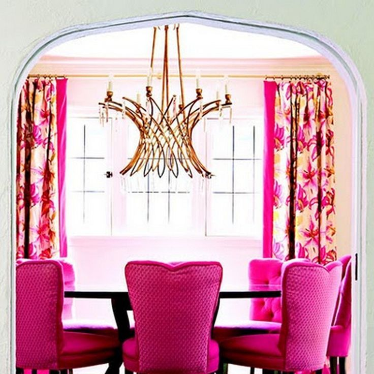 Hot pink furniture interior (17)