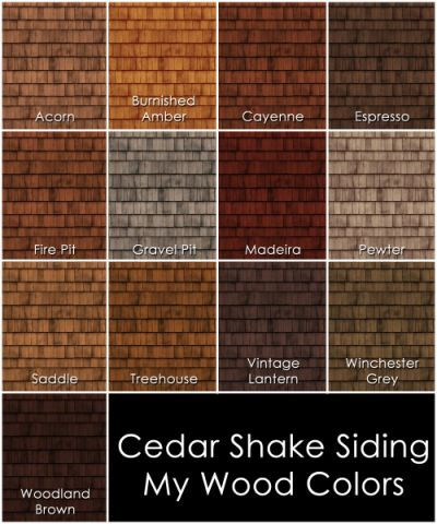 Mod The Sims - Cedar Shake Siding