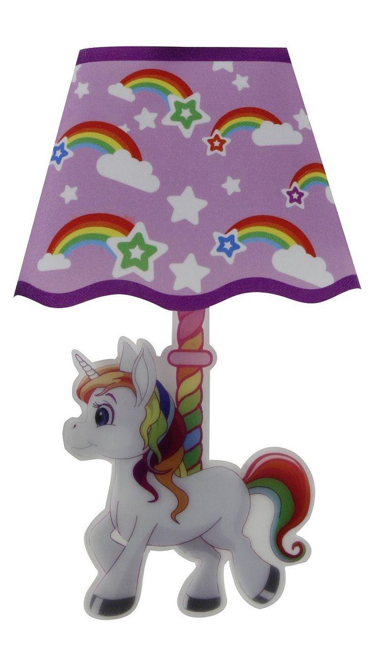 Luxury Unicorn LED Wandleuchten Sticker Einhorn Schlummerlicht Nachtlicht Kinderzimmer