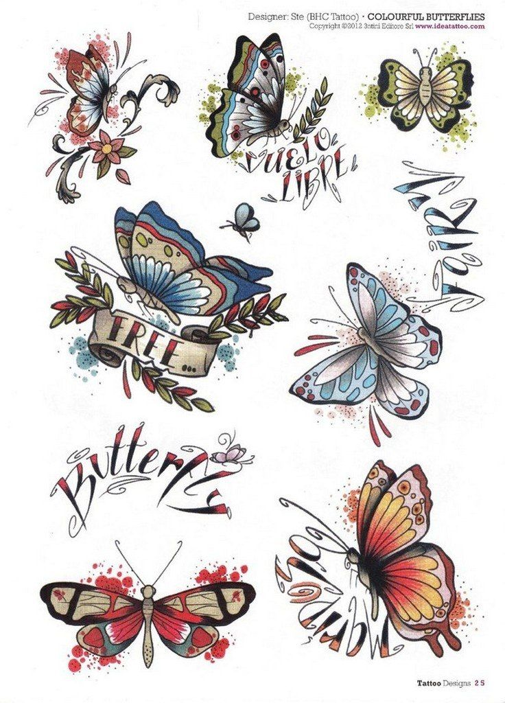 Traditional Butterfly Tattoo Flash: 1196 Best Tattoo Flash Images On Pinterest