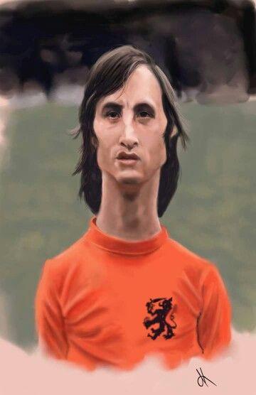 Johan Cruyff caricature