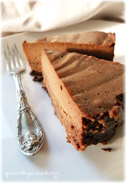 Double Whammy Chocolate Cake. Flourless chocolate cake topped with chocolate mousse!! nut-free, dairy-free, gluten-free awesomeness