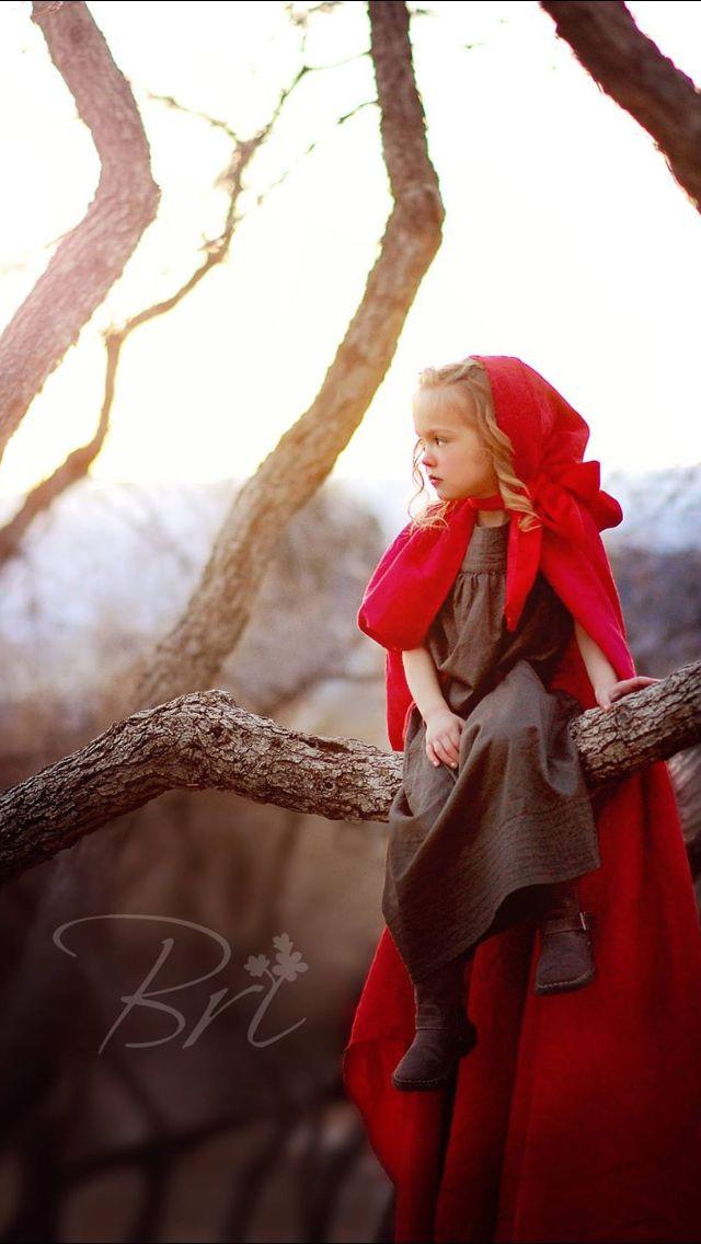 Little red riding hood photo shoot