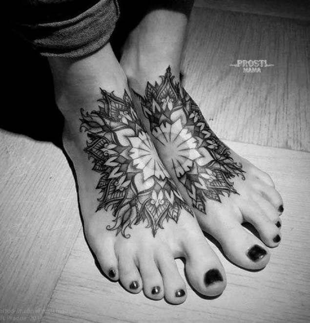 Symmetrical Foot Tattoo