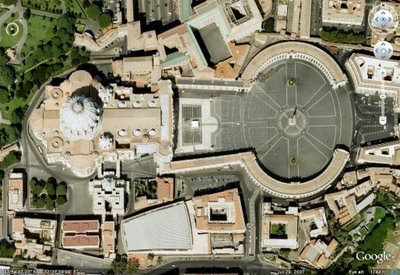 Notice that the entire Vatican is in the shape of a keyhttp://themurkynews.blogspot.jp/2008/07/introduction-connecting-current-events_08.html: