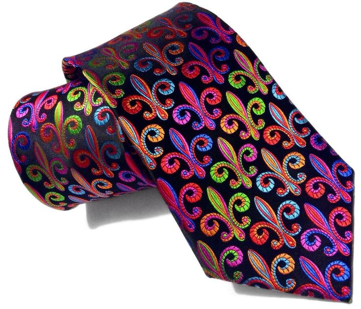 New Lawrence Ivey 100% Silk Multi-color Geometrics Colorful Ties Bright Neckwear #LawrenceIvey #NeckTie