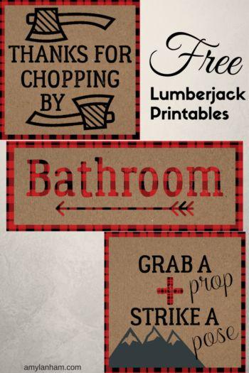 Lumberjack Birthday Party Decor