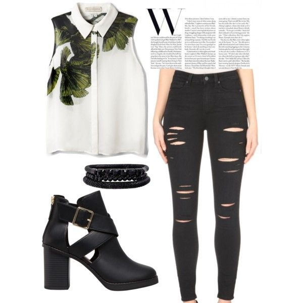 Untitled #10 by zuzulica on Polyvore featuring Elle Sasson, Paige Denim, Pull&Bear and Spring Street