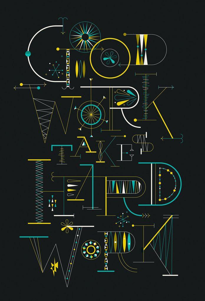 Good work Hard work #typography #poster