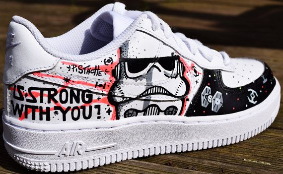 STAR WARS PAiNTED SHOES custom kicks sneakers graffiti hand vans converse nike mens womens kids adidas customised costume art new rogue one